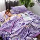 珊瑚薄款毯子夏季單人空調毛巾被子午睡法蘭絨夏天冬季加厚小毛毯 Korea時尚記