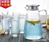 家用玻璃涼水壺大容量冷水壺水杯套裝防爆耐熱耐高溫泡茶壺