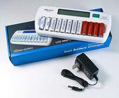 呈現攝影-ROWA 液晶LCD旗艦型12顆充電器 白色 AA/AAA 可充電1~12顆 單迴路 3/4號 活動紀錄 工作
