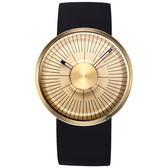 odm MY03 極簡之美金屬圓盤手錶-金x黑/42mm MY03-05