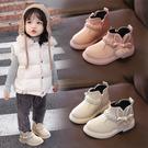 女童靴子2019秋冬季新款公主韓版洋氣二棉兒童馬丁靴寶寶加絨短靴