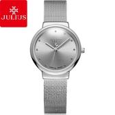 JULIUS聚利時 淬鍊風華簡約不鏽鋼米蘭帶腕錶-優雅銀/30mm 【JA-426LD】