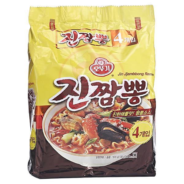 韓國不倒翁 螃蟹炒碼麵130g*4包(整袋裝)【小三美日】