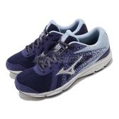 Mizuno 慢跑鞋 Stargazer 2 Wide 寬楦頭 藍 銀 女鞋 運動鞋 【ACS】 K1GA2051-14