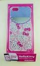 【震撼精品百貨】Hello Kitty 凱蒂貓~HELLO KITTY iPhone5手機殼-附鏡貼鑽(頭)