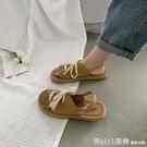 涼鞋 涼鞋女仙女風2021新款夏季網紅ins潮時尚學生百搭羅馬綁帶平底鞋 618購物節