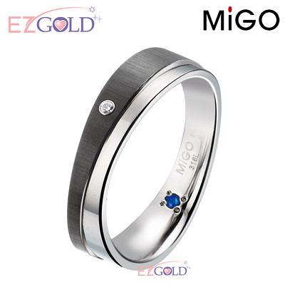 MiGO鋼飾♥柔情-黑♥鋼飾戒指(男)
