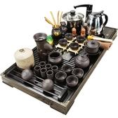 茶具 茶具套裝家用簡約陶瓷茶杯電熱磁爐茶台茶道實木茶盤 超級玩家