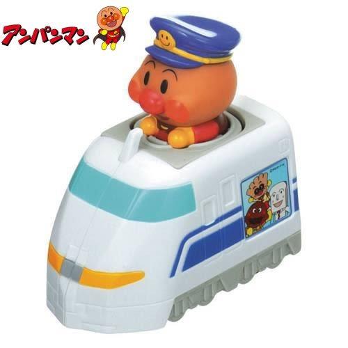 日本限定 麵包超人新幹線 按壓滑動式 玩具車