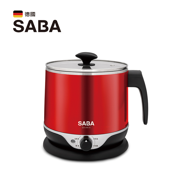 SABA 雙層防燙不鏽鋼美食鍋2.2L