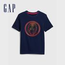 Gap 男童 Gap x Marvel 漫威系列圓領短袖T恤 573680-海軍藍