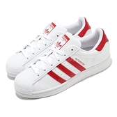 adidas 休閒鞋 Superstar W 白 紅 女鞋 愛心 運動鞋 貝殼頭 【ACS】 FX8729