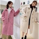仿羊羔毛衛衣女士2021冬新款韓版寬鬆加絨加厚中長款外套女潮ins 貝芙莉