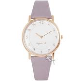 【台南 時代鐘錶 agnes b.】BJ5015X1 VJ20-KCW0P 手寫風 數字 皮革錶帶女錶 白/粉 33mm