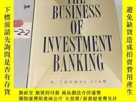 二手書博民逛書店英文原版:The罕見Business of Investment