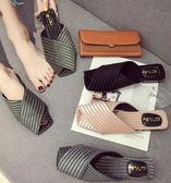 拖鞋 拖鞋女夏外穿新款百搭韓版時尚包頭半拖平底網紅粗跟涼拖