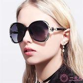 歐美潮流大框太陽鏡批發 抖音街拍眼鏡女士個性鏤空四葉草墨鏡