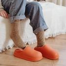防水秋冬季保暖包跟女棉拖鞋男家居家室內月子鞋加絨厚底家用棉鞋 - 古梵希