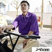 短袖Polo衫 男士POLO衫2021夏季新款韓版潮流短袖t恤帥氣百搭小清新半袖體恤 酷男