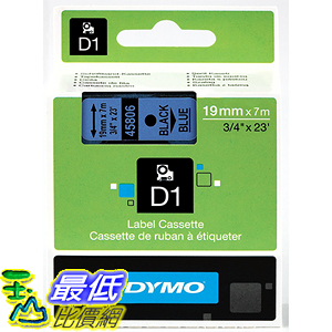 [美國直購] DYMO 45806 Standard D1 Self-Adhesive Polyester Tape for Label Makers 3/4 inch x 23 標籤紙