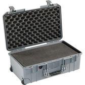 美國 PELICAN 1535 Air 輪座拉桿超輕氣密箱-含泡棉 (銀/淺灰色) 公司貨