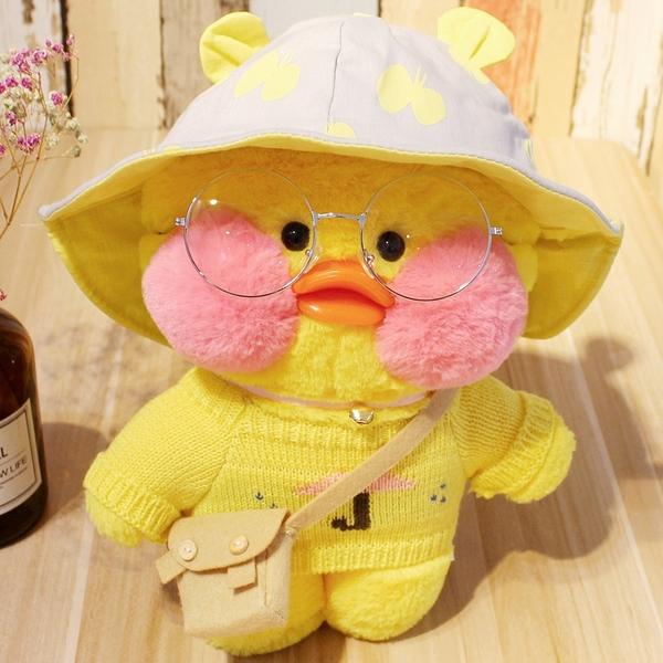 網紅少女心小黃鴨子公仔ins毛絨玩具玻尿酸鴨玩偶生日禮物女娃娃