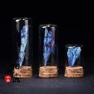 天然水晶原石鉍礦藍碧璽七彩