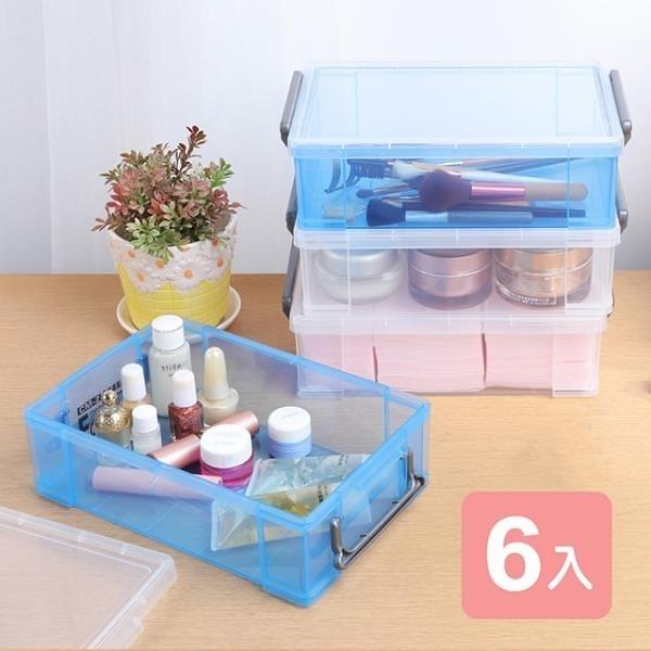【南紡購物中心】《真心良品》芬妮收納整理盒(1.8L)-6入組