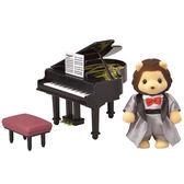 森林家族 人偶 TOWN鋼琴演奏獅子