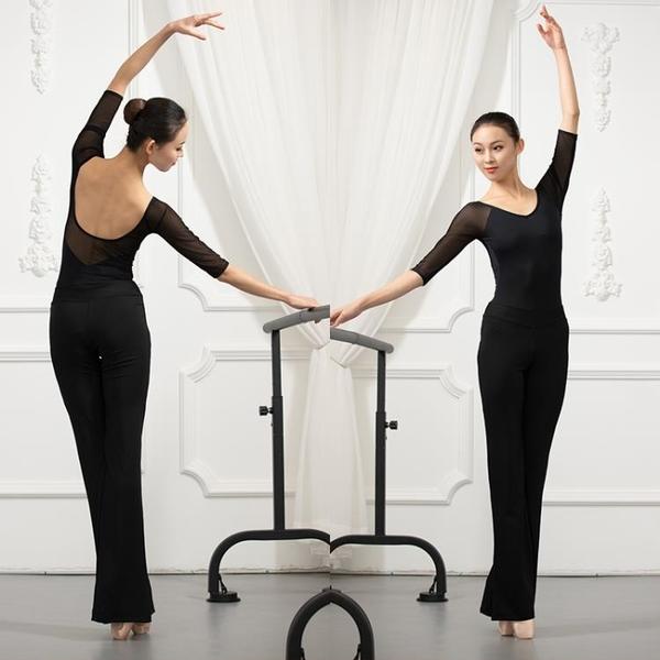 形體訓練服女套裝舞蹈連體練功服黑色禮儀培訓模特走秀服裝瑜伽褲 【ifashion·全店免運】