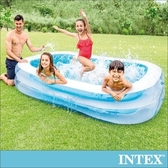 INTEX長方型藍色透明游泳池262x175X56cm(56483N)