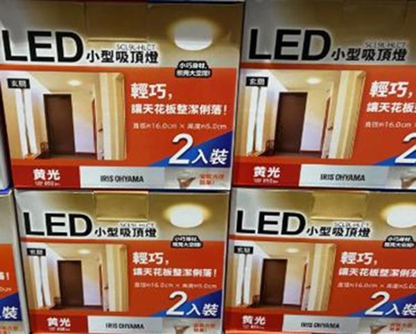 COSCO代購] C124174 IRIS LED CEILING LIGHT 小型吸頂燈兩入組 黃光