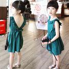 *╮S13小衣衫╭*橄欖綠荷葉邊大露背洋裝  1050522