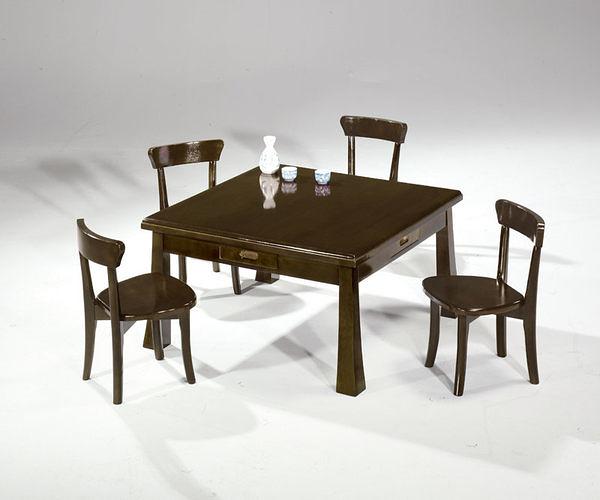 [ 家事達] TMT 花采實木和室桌椅組 (TAR-898+TAR-910*4)