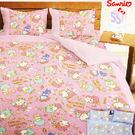 【名流寢飾家居館】Hello Kitty.三麗鷗55週年太空風.加大單人床包組.全程臺灣製造