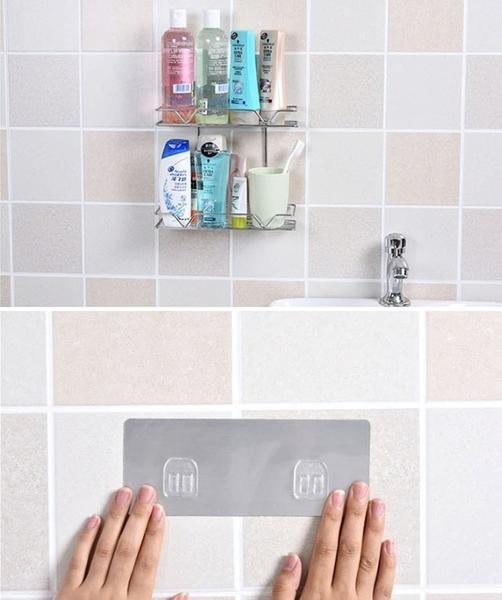 強力黏貼雙層浴室收納置物架 免釘免打孔 廚房收納櫃【AE04250】99愛買小舖