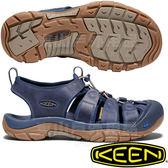 KEEN KEEN 1018790深藍 NewPort 男戶外護趾涼鞋 水陸兩用溯溪鞋/運動健走鞋/沙灘戲水拖鞋