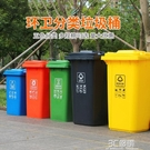 240l升北京戶外環衛垃圾桶四色分類大號帶蓋商用室外小區公共場合HM 3C優購
