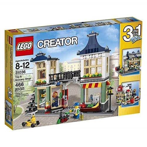 LEGO 樂高 Creator 31036 Toy and Grocery Shop, 3-in-1 Building Toy Set 466 Pieces