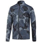 REEBOK RUNNING REFLECTIVE 男裝 外套 風衣 迷彩 休閒 舒適 黑 灰 藍 【運動世界】 BR4382