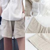 孕婦短褲夏季外穿時尚潮媽寬鬆休閒闊腿棉麻打底褲子女夏裝天薄款 寶貝計書