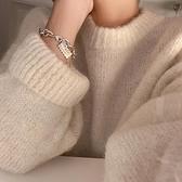 手鏈 韓版簡約手鏈女配飾高級ins小眾設計感冷淡風首飾學生森系手飾品【快速出貨八折搶購】