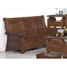 【森可家居】中式復古樟木全實木三人板椅沙發 8SB132-5