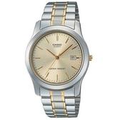 【CASIO】 簡約新貴金銀日期顯示指針錶-羅馬金面(MTP-1141G-9A)