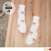 《ZB0576》韓國製水果印花短筒襪 OrangeBear