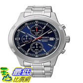 [103美國直購] 手錶 Seiko SKS419 Chronograph Blue Dial Stainless Steel Mens Watch $5269