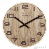 鬧鐘 簡約新中式木質掛鐘靜音客廳辦公古典時鐘錶復古中國風石英掛錶 下殺
