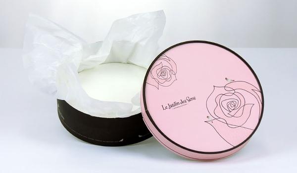 16CM  粉紅玫瑰  附棉紙底板 6吋 乳酪盒 起司蛋糕盒 外帶盒 禮盒 包裝盒 派盒【C002】
