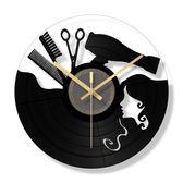 掛鐘 復古靜音客廳個性時尚石英鐘酒吧掛錶美發店鐘錶理發時鐘 - 都市時尚
