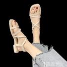 平底涼鞋 平底涼鞋女氣質仙女2021夏季新款網紅ins潮超火細帶原宿風羅馬鞋 智慧 618狂歡